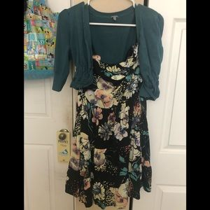 Charlotte Russe Dresses - Tube top dress with crop top sweater